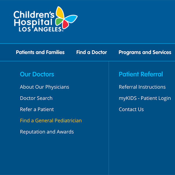 chla.org website image